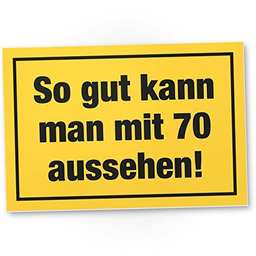 Bedankt! so Gut mit 70 jaar uiterlijk plastic bord - Cadeau 70e verjaardag, cadeau-idee verjaardagscadeau zeventig, verjaardagsdecoratie/partydecoratie/feestaccessoires/verjaardagskaart