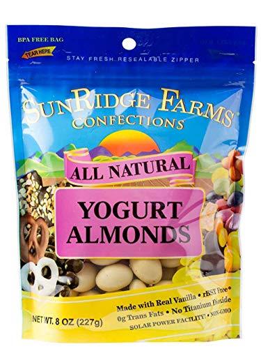 SunRidge Farms Yogurt Almonds 8 Ounce Bag (Pack of 12)