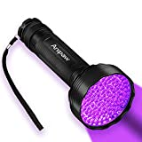 Anipaw UV Black Light Flashlight, Super Bright 100 LED 395 nM Ultraviolet Blacklight Detector for Urine for Dog/Cat, Dry Stains, Bed Bug, Professional Blacklight Flashlight for Scorpions Hunting