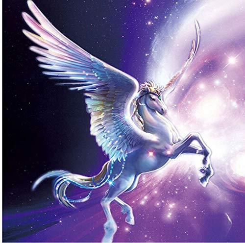 Diamond Painting Horse vliegen paard Pegasus DIY 5D afbeeldingen creëren kristallen diamant complete set creëren op cijfers 30x30cm