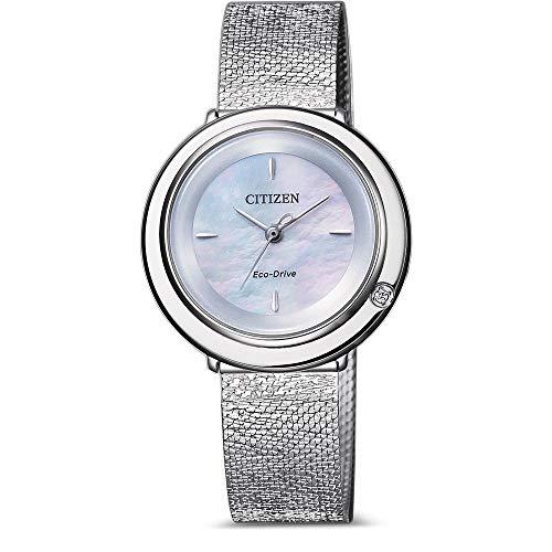 Citizen Reloj Analógico para Mujer de Cuarzo con Correa en Acero Inoxidable EM0640-82D