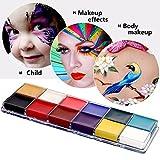 Mermaid Palette professionale con 12colori a olio veloci da applicare, per trucco viso e corpo, ideale per Halloween, feste e travestimenti, per bambini e adulti