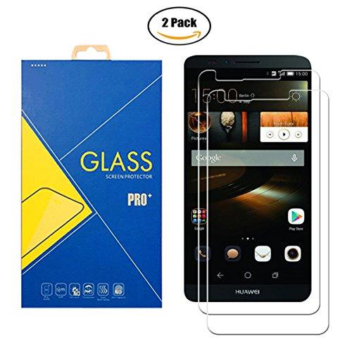 [2 Pack] Panzerglas Schutzfolie Kompatibel Huawei Ascend Mate 7 / MT7-L09 – Gehärtetem Glas Bildschirmschutzfolie Anti-Scratch Shockproof