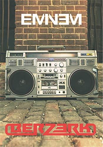Heart Rock Drapeau Original Eminem Berzerk, Tissu, Multicolore, 110 x 75 x 0,1 cm