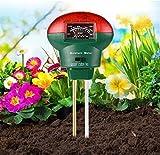 Testeur de Sol 3 en 1 PH Solide,BearbroSoil Tester Kit,Lumière et Testeur de pH Acidité,Soil Moisture Tester Sensor Kit,pour Fleurs/Herbe/Plante/Jardin/Ferme/pelouse 【Pas Besoin de Batterie】