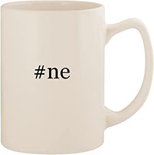 #ne - White Hashtag 14oz Ceramic Statesman Coffee Mug Cup