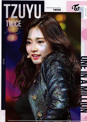 韓国 K-POP ☆TWICE トゥワイス TZUYU ツウィ☆ クリアファイル A4サイズ クリアホルダー