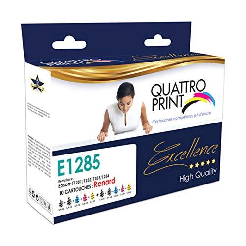 Pack de 10 cartuchos compatibles con Epson T1285 zorro – 4 negro, 2 cian, 2 magenta y 2 amarillo