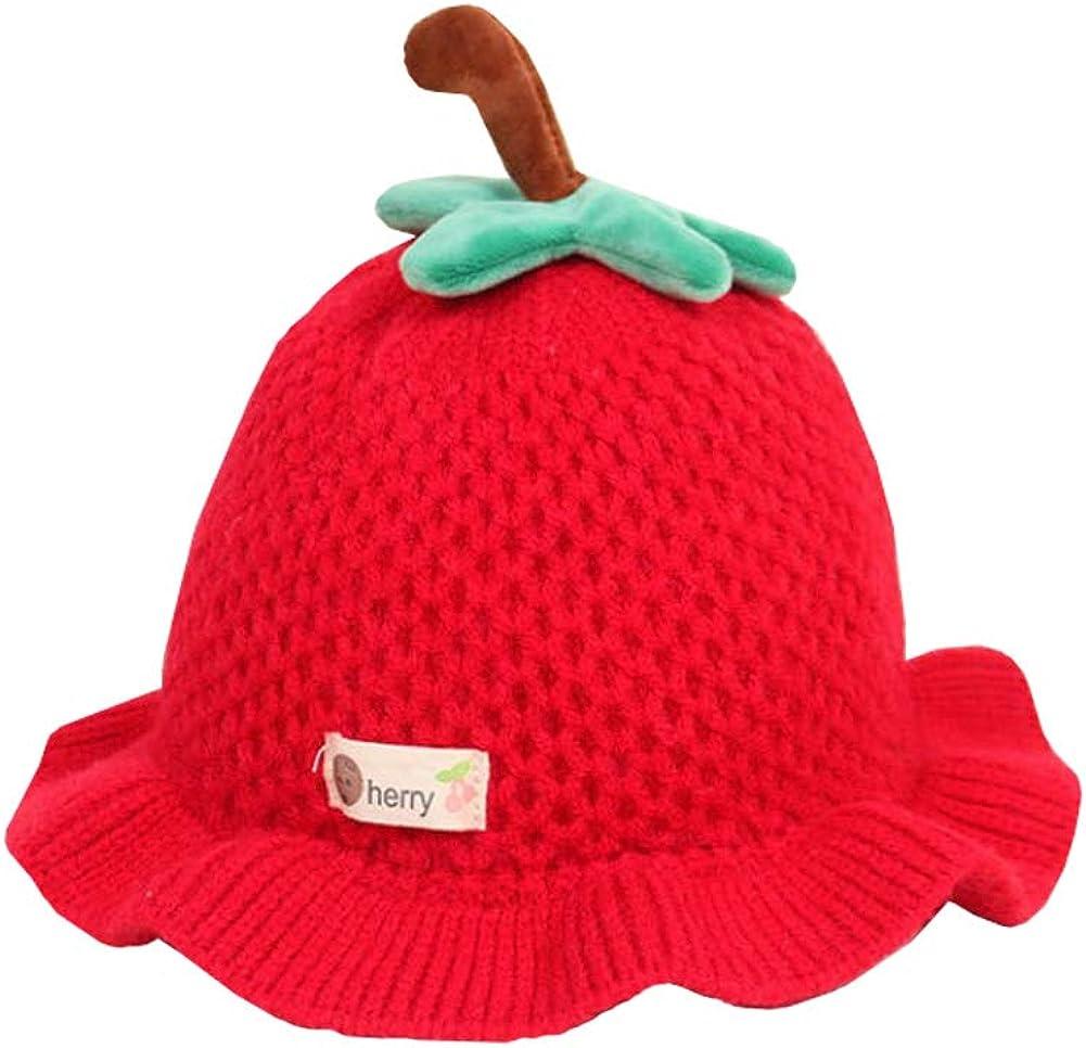 New Novelty Spring Child Kids Toddler Fashion Knitted Fruit Warm Bucket Hat Beanie