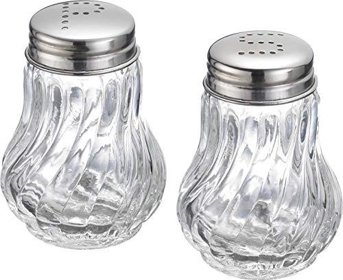 Westmark Salz- und Pfefferstreuer-Set, 2-tlg., Fassungsvermögen je 50 ml, Glas/Rostfreier Edelstahl, Berlin, Transparent/Silber, 65362270