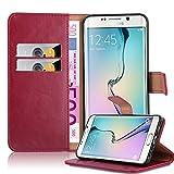 Cadorabo Coque pour Samsung Galaxy S6 Edge Plus en Rouge Cerise – Housse Protection...