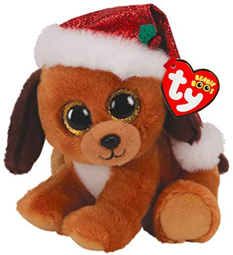 TY UK LTD 36240 Beanie Boos Hund Howlidays Dog Xmas Weihnachten - Boo - Reg, Mehrfarbig