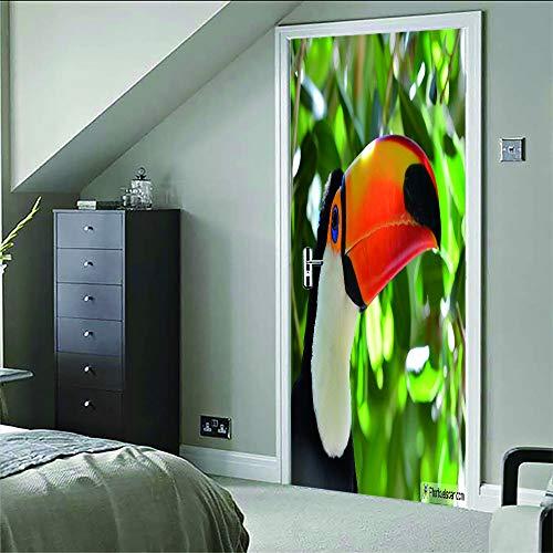 Vogel muurstickers, 3D-muurstickers, muurkunst, om zelf te maken, afneembaar, voor kinderen, slaapkamer, restaurant, café, hotel, kantoor, decoratie van het huis, 77 x 200 cm