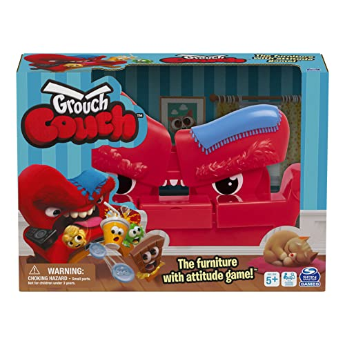 Grouch Couch, Furniture with Attitude Popular Funny Fast-Paced Board Game with Sounds, for Families and Kids Ages 5 and up