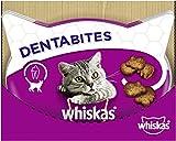 Whiskas Dentabites, Köstlicher & kalorienarmer Katzensnack für eine glückliche Katze, Die kleine Belohnung für zwischendurch 6er Pack (6x48...
