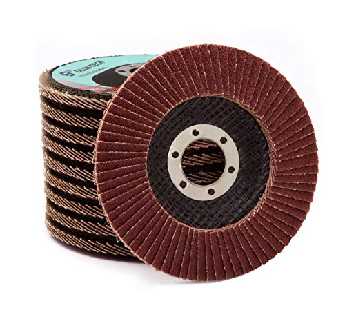 Fächerscheiben Lamellenscheiben Schleifscheiben 10 Stk. 125 mm Korund K40, K60, K80, K100,120 für Holz, Metall (LAM-125) (Körnung K80)