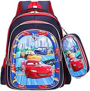 حقيبة ظهر مدرسية للأولاد للسيارات مع مقلمة