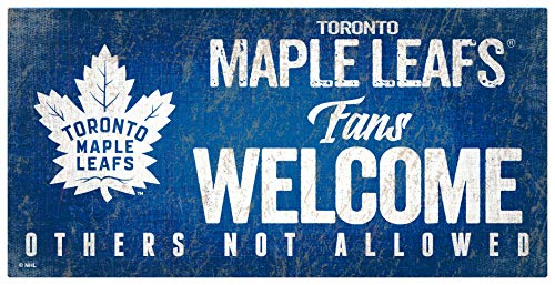 NHL Toronto Maple Leafs Unisex Toronto Maple Leafs Fans Welcome Sign, Team Color, 6 x 12