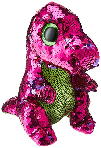 Ty Flippable STOMPY The Pink/Green Sequin Dinosaur - 6'