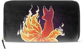 Women's Colourful Flower Large Capacity Soft Leather Wristlet Wallet Checkbook Passport Holder