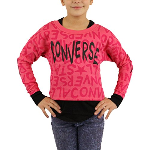 Converse Kinder Sweater All Over Girls Cosmos pink - 104-110