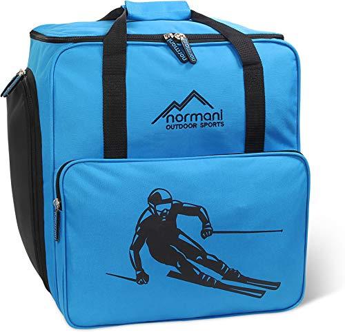 normani Skischuhtasche mit separatem Helmfach und Rucksackfunktion Alpine DEPO Farbe Blau