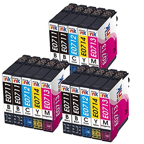 Starink - Cartuchos de tinta compatibles con Epson T0711-T0714 T0715 para Epson Stylus BX300F DX8450 DX4000 DX7450 BX610FW DX4400 SX510W DX7400 SX205 DX8400 DX5000 BX310FN SX215 SX405 DX4050.