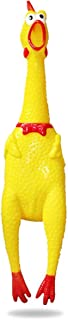 Blink Tree Screaming Shrilling Squeeze Chicken Toy Rubber Squawking Chicken 15 Inches / 38 cm Stress Relief Toy Anti-Anxiety/Depression Toy Novelty Gag Toys Practical Jokes (1 pc)