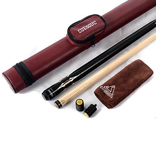 CUESOUL 19 Once 1 2 Snodato Maple Stecche da Biliardo con Il Caso CSBK005