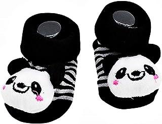 Lovelegis, Calcetines antideslizantes para niños - bebés - 0/12 meses - fantasía - panda - rayas - hombre - mujer - unisex - idea de regalo de cumpleaños