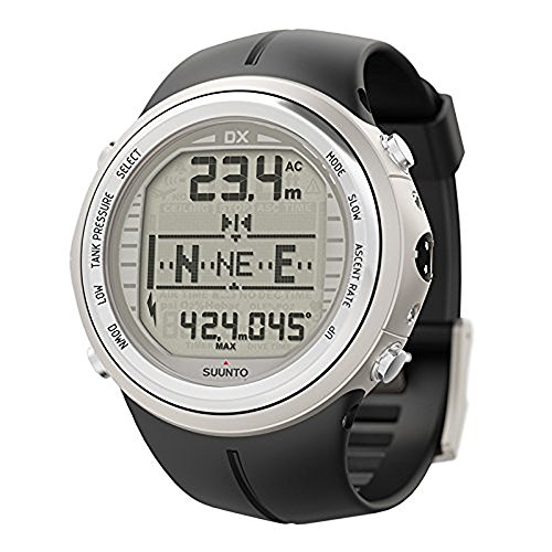 SUUNTO DX Silver Elastomer with USB & Suunto Wireless Tank Pressure Transmitter Led 2