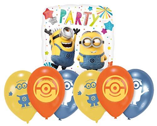 amscan Minions Luftballons Geburtstag Deko-Set Happy Birthday Deko-Luftballons Balloons Minions