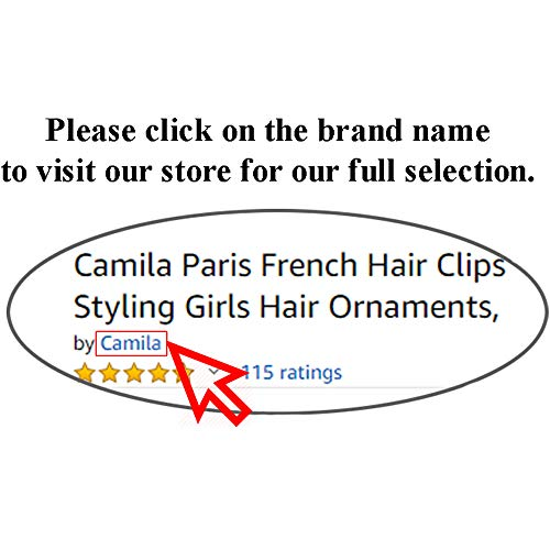 Camila Paris AD819 French Hair Barrettes Clips for Girls, Black, Automatic Metal Clasp Strong Hold Grip Hair Clips for Women, No Slip and Durable Styling Girls Hair Accessories, Made in France
