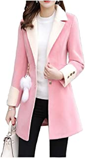 Howely Women's Slim Winter Outwear Jacket Casual Lapel Pea Coat