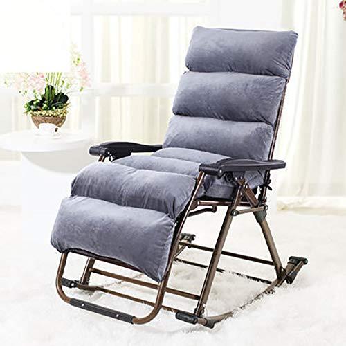 Xiao Jian- Chaise pliante - Fauteuil à bascule inclinable Sieste Chaise de balcon Fauteuil pliant pour le déjeuner (Couleur : B)