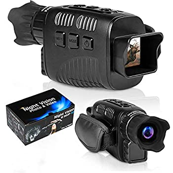 """CANIS LATRANS Digital Night Vision Monoculars IR Night Vision Goggles Infrared Digital Camera with 1.5"""" TFT LCD,3W 850nm IR LEDs for Outdoor/Surveillance/Bird Watching"""