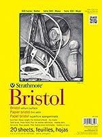 "Strathmore Vellum Bristol Paper Pad 14""X17""-100lb 20 Sheets (並行輸入品)"