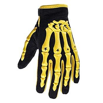 Typhoon Youth Kids Motocross Motorcycle Offroad MX ATV Dirt Bike Gloves - Yellow - Large