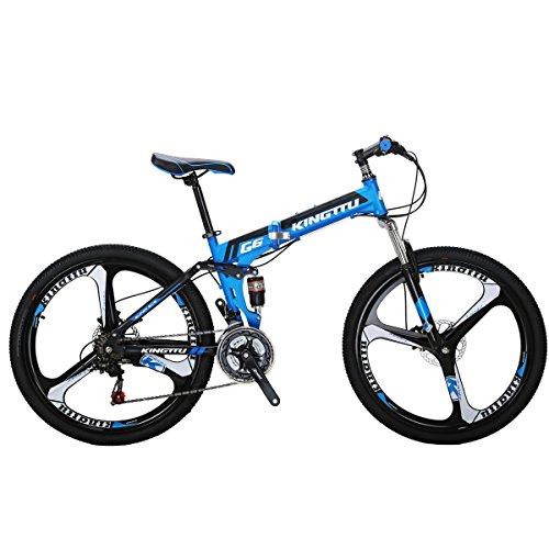 26 inch Bike G6 21 Speed Bike Adult Bike 3-Spoke Wheels Bicycles Dual Disc Brake Folding Bike