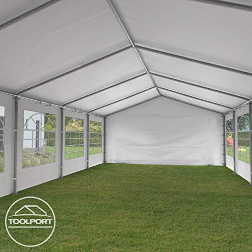 TOOLPORT Partyzelt Pavillon 4×8 m in weiß - 6
