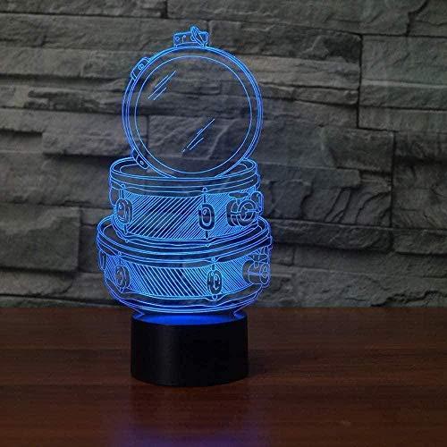 Baby Spielzeug 3D LED música tambor conjunto mesa lámpara de escritorio 16 colores cambiantes acrílico noche luz USB dormitorio noche decoración niños regalos sueño iluminación