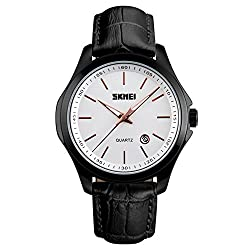 65%OFF Black Mens Analog Quartz Waterproof Business Wrist Watch with Black Border and Strap