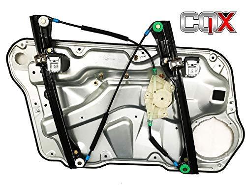 CQX Compatible Lève-vitre Avant Droite VW Bora -Golf 4-Jetta Complet avec panneau1J4837462F-D pour 4 Portes