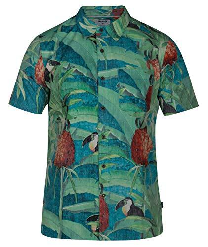 Hurley Costa Rica Short Sleeve Woven Tropical Twist LG