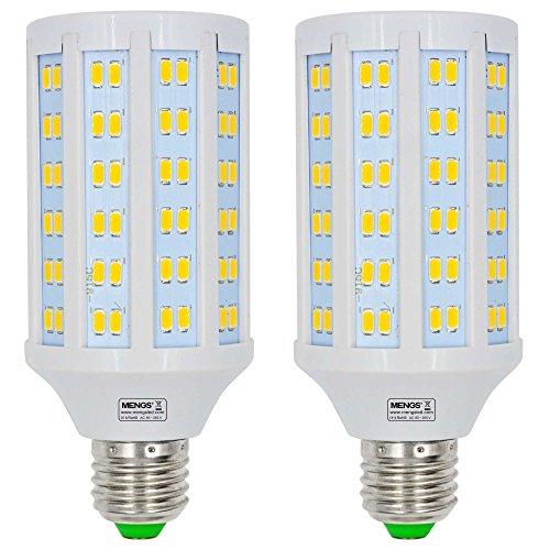 MENGS 2 Stück E27 LED Lampe 20W Warmweiß 3000K AC 85-265V 144x5730 SMD