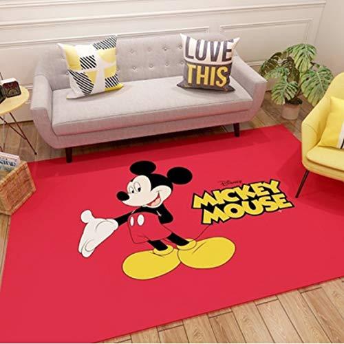 Alfombra Sala De Estar Dormitorio Mesita De Noche Sofá Bebé Gateando Familia Lindo Mickey Mouse Habitación Infantil Escaleras De Juego Alfombras Antideslizantes Resistente Al Desgaste 80 Cm * 160 Cm