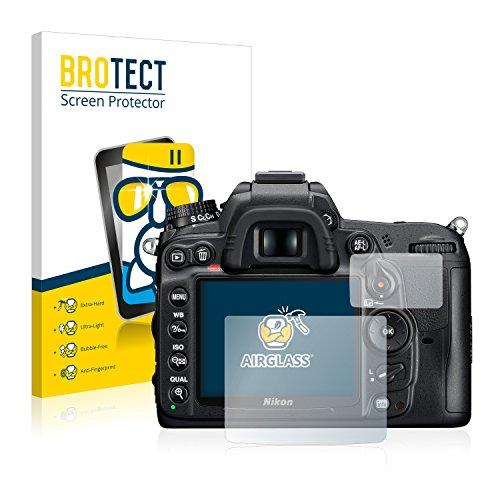 BROTECT Protector Pantalla Cristal Compatible con Nikon D7000 Protector Pantalla Vidrio Dureza 9H AirGlass