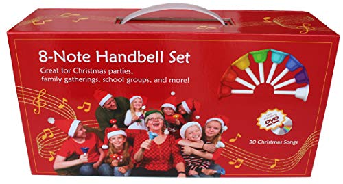 Merry Bells Handbell Set with 30 Christmas Songs Play-Along DVD