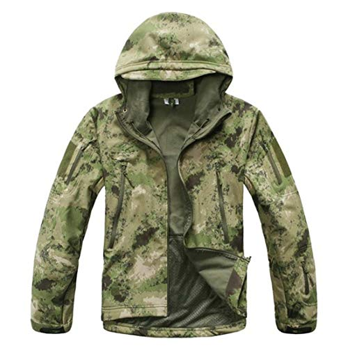 Brand Jacket V5.0 Military Tactical Men Jacket Lurker Shark Skin Soft Shell Waterproof Windproof Men Army Jacket Coat Ruins Green M