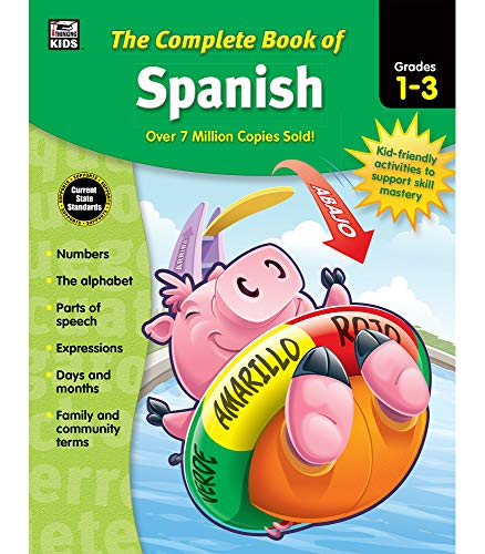 Carson Dellosa Complete Book of Spanish Workbook for Kids